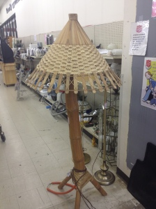Thrift store tiki lamp view 2