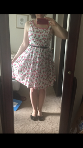 Pink flower carousel dress