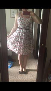 Pink flower carousel dress