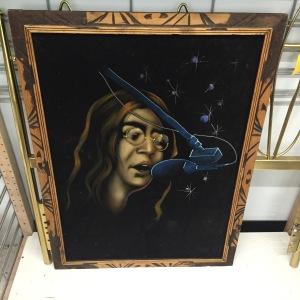 John Lennon velvet painting