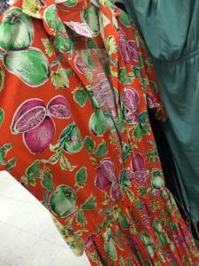 Orange turnip lime pattern dress