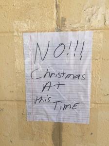 No! Christmas at this time.