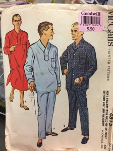 All set for the guys-only slumber party! Men's nightgown patterns