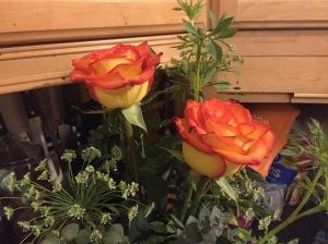 orange and yellow roses